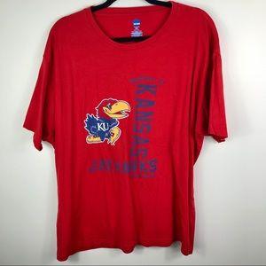 NCAA Kansas Jayhawks basketball🏀 short sleeve tee